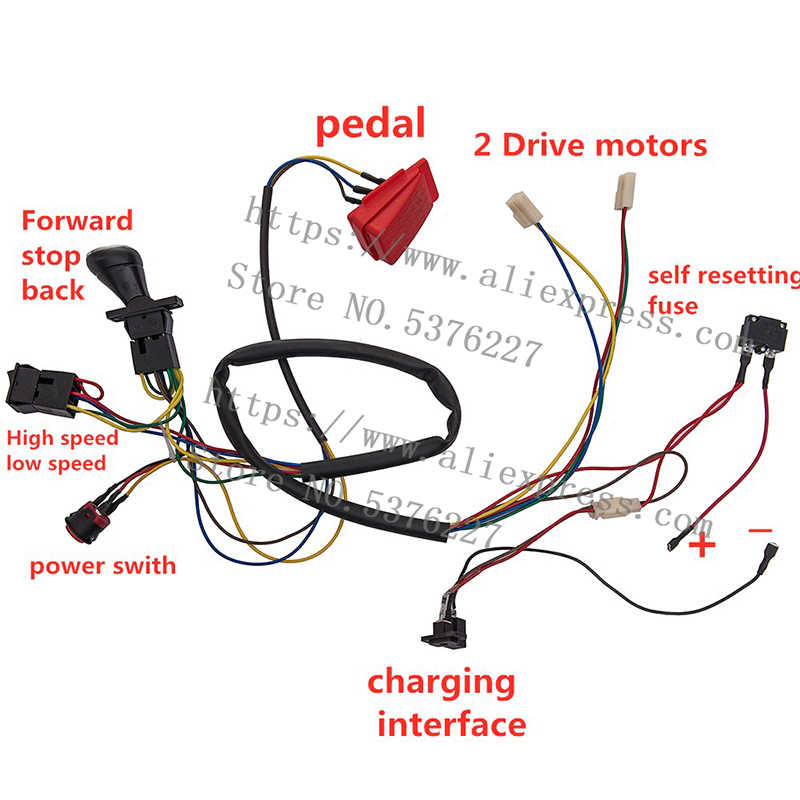 [DIAGRAM_38YU]  Children's electric wheel 12V DIY wiring harness change complete wire  switch (no remote control),kid's car replacement parts.| | - AliExpress | Car 12v Wiring Diagram |  | AliExpress