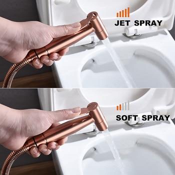 Bathroom Toilet Handheld Bidet Sprayer Stainless Steel Diaper Cloth High Water Pressure Cleaning Sprayer with Hose