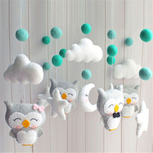 Baby Crib Holder Rattles Bracket Clockwork Music Box DIY Bed Bell Material Package Toy Pregnant Mom Handmade Toys For Baby baby rattles bracket set diy hanging baby crib mobile bed bell toy rotary holder arm bracket with clockwork movement music box