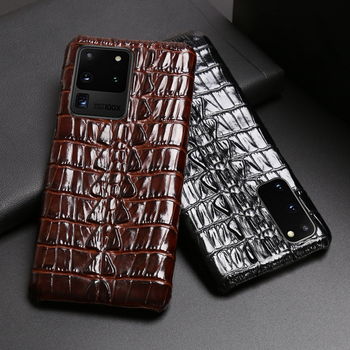Leather Phone case For Samsung S20 Ultra S10 S10e S9 S8 S7 Note 8 9 10 20 Plus A20 A30 A50 A70 A51 A71 A8 Crocodile Tail Texture