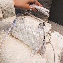 Осенняя и зимняя плюшевая маленькая сумка для женщин новая Корейская женская сумка через плечо модная сумка подушка сумка