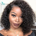 Short Pixie Cut Curly Bob Wig Lace Closure Human Hair Wigs 13x1 Lace Front Brazilian Short Bob Curly Wig Pre Plucked Remy Wig