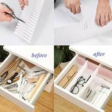 4pcs Adjustable Clapboard Drawer Divider Partition Socks Wardrobe For Underwear Storage Separator Closet Office Organizer