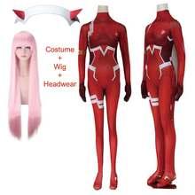 Querida no franxx 02 zero dois cosplay traje para as mulheres traje de halloween carnaval natal apertado impressão 3d bodysuit