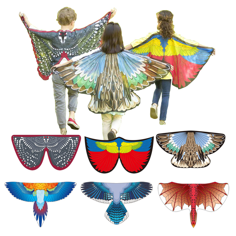 Bird Costumes Butterfly Wings Dragon Carnival Costume Blue Jay Scarlet Macaw Magpie Wings Boys And Girls Halloween Costume