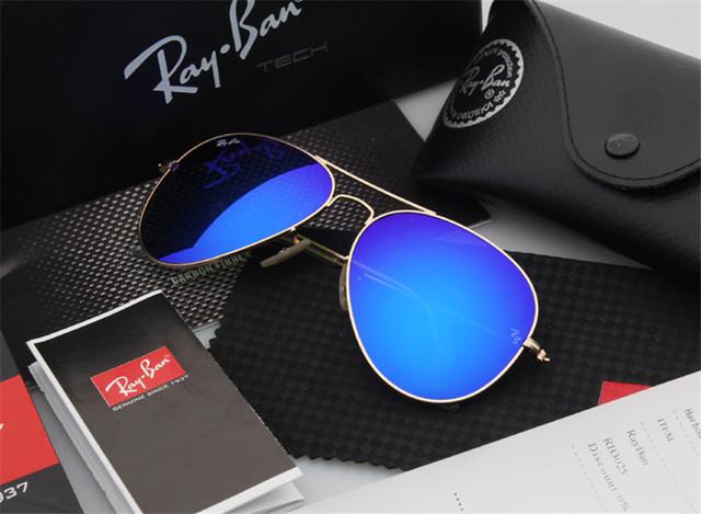 Aviador hombres gafas de sol clásicas polarizadas conducción piloto 3025 aviador