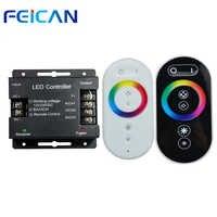 RF 6 Tasten Schwarz/Weiß DC12-24V 8A/CH Fernbedienung 24A 3 Kanal RGB Eisen Shell LED Controller für SMD5050 3528 RGB LED Streifen