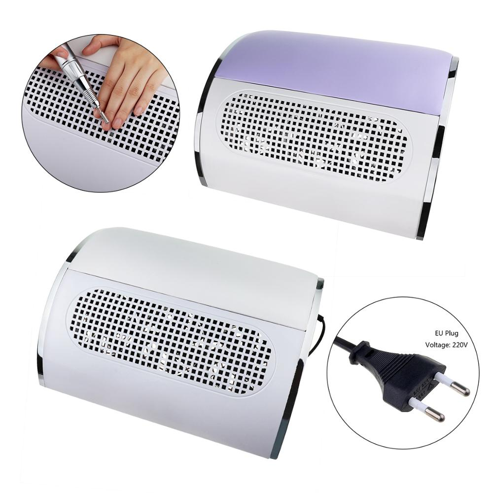 40W Nail Dust Collector UV Gel Polish Dust Suction Vacuum Cleaner Nail Art Powerful 3 Fans Leather Manicure Machine