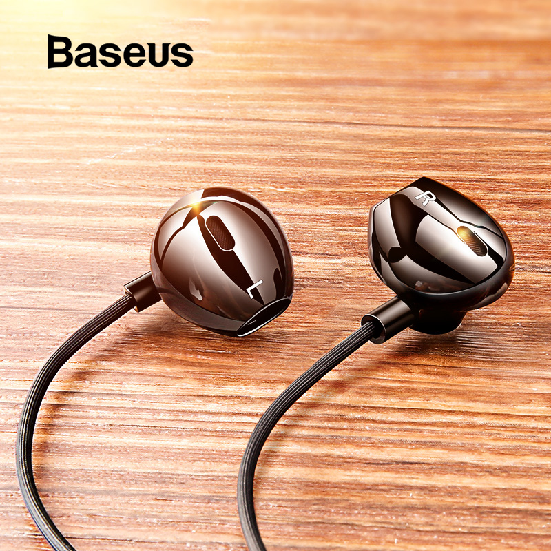Baseus C06 Wired Earphone Type C Bass Stereo Earbuds With Mic Sport Headset 3.5mm Jack For IPhone Huawei Samsung In-ear Earphone