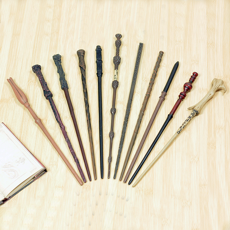 11 Kinds Of Magic Wands Potter Cosplay Metal/Iron Core Dumbledore Magical Wand Varinhas Kid Magic Wand No Box Package
