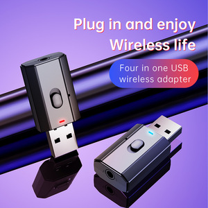 USB Bluetooth 5.0 Audio Receiver Transmitter 4 IN 1 Mini 3.5mm Jack AUX RCA Stereo Music Wireless Adapter for TV Car PC