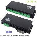 BC-824 DC5V-24V 24 CH DMX512/1990 декодер сигналов 3А * 24CH с дисплеем показывает RGB DMX512 Контроллер для светодиодный светильник