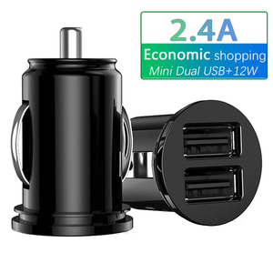 Car Truck Dual 2 Port USB Mini Charger Adapter for iPhone 7 Plus 6 5S 4s Huawei P10 Samsung Galaxy S8 S7 celular Black 12V Power(China)