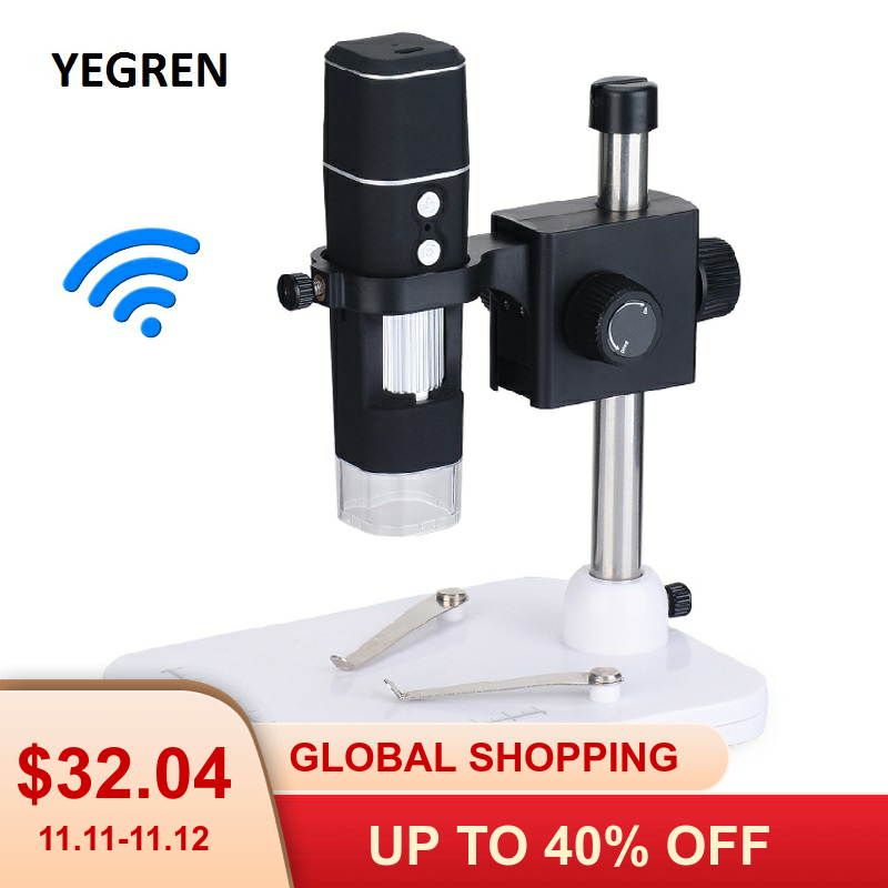 1000X WIFI Digital Microscope Wireless Smartphone Mobile Phone Electron Microscope PCB Inspection Learning Insect Observation