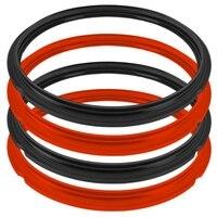 4 pces o ring silicone pressão fogão selo anel de pressão fogão 6qt selo anel suprimentos de cozinha|Panelas de pressão elétricas| |  -