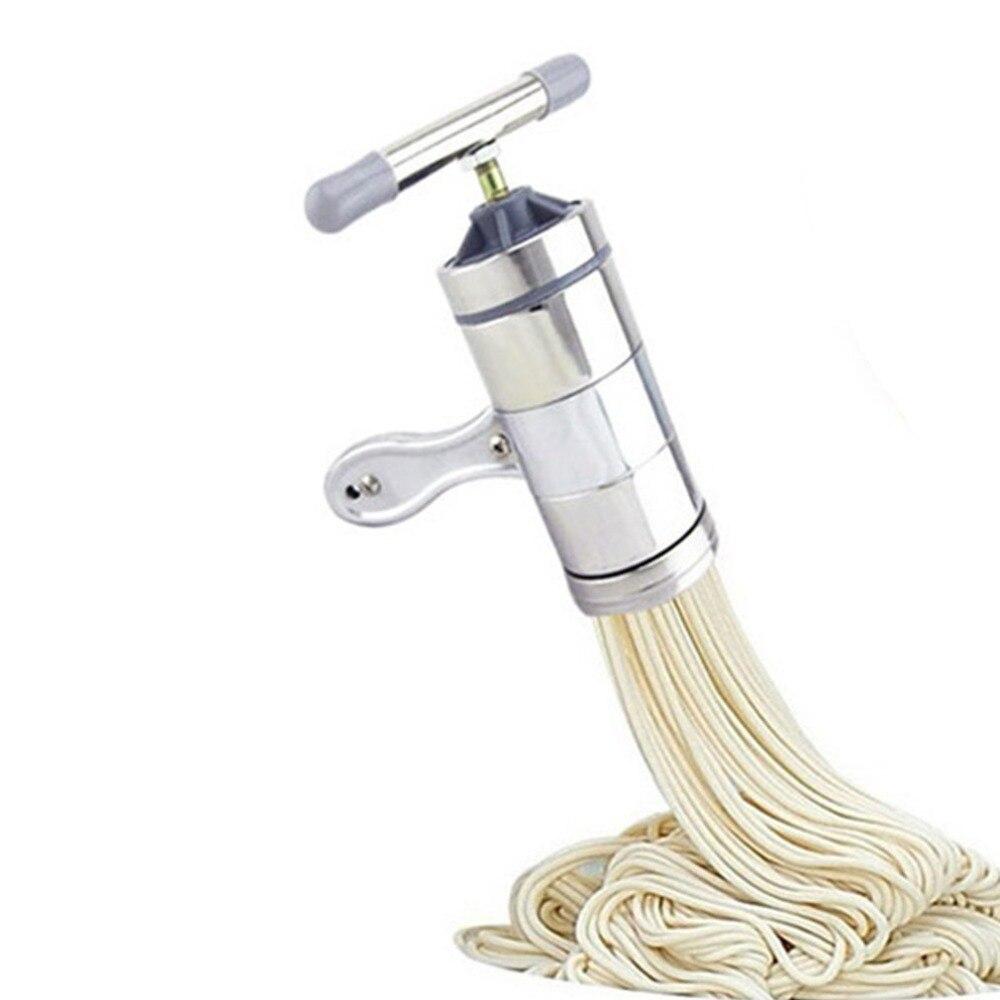 Noodles Pasta Press Maker Machine Hand Cutter Cookware Moulds Making Spaghetti Fettuccine Noodle