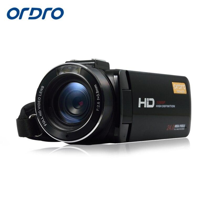 Ordro Z20 1080P Цифровая видеокамера Full HD 16x цифровой зум DV 3,0 дюймов WIFI Внешний Микрофон Горячий башмак пульт дистанционного управления