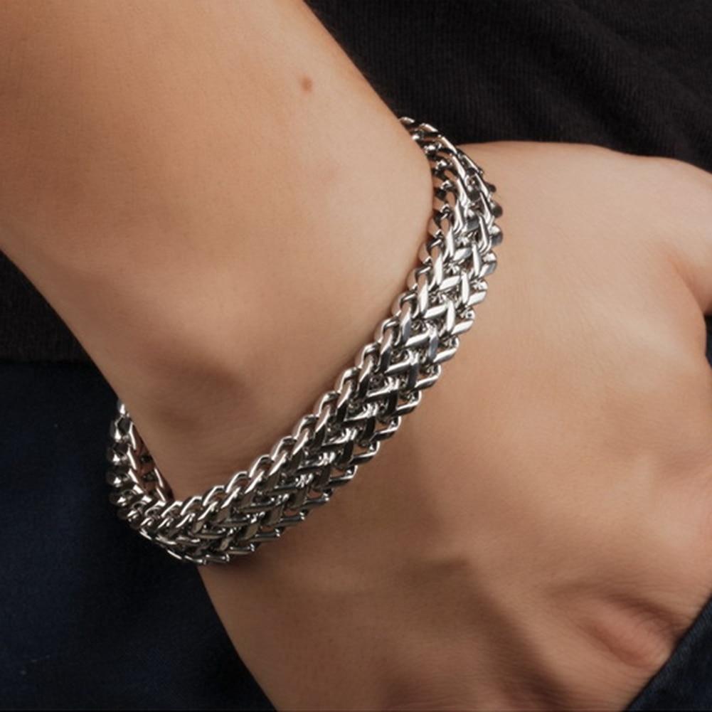 2019 men bracelet stainless steel link chain on hand mens accessories charm male bracelets bangles men's rock style