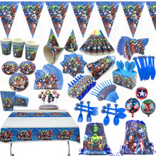 For 10 people baby boy adult birthday party supplies the Avengers decoration sets paper garland cups shower
