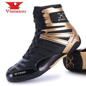 Новое высокое качество туфли для Реслинга; Для мужчин большие размеры 38–46 кроссовки-борцовки светильник Вес боксерские ботинки из дышащег...