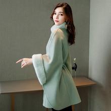Шерстяная Куртка женская осенняя и зимняя новая Корейская версия шерстяного пальто плащ пальто Женская