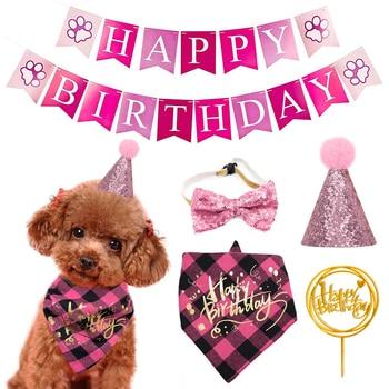 Dog Birthday Bandana & Hat Set 1