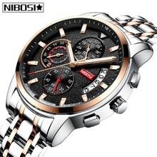 NIBOSI Relogio Masculino Mens Watches Top Brand Luxury Business Men Watch Waterproof Reloje Fashion Sport Quartz