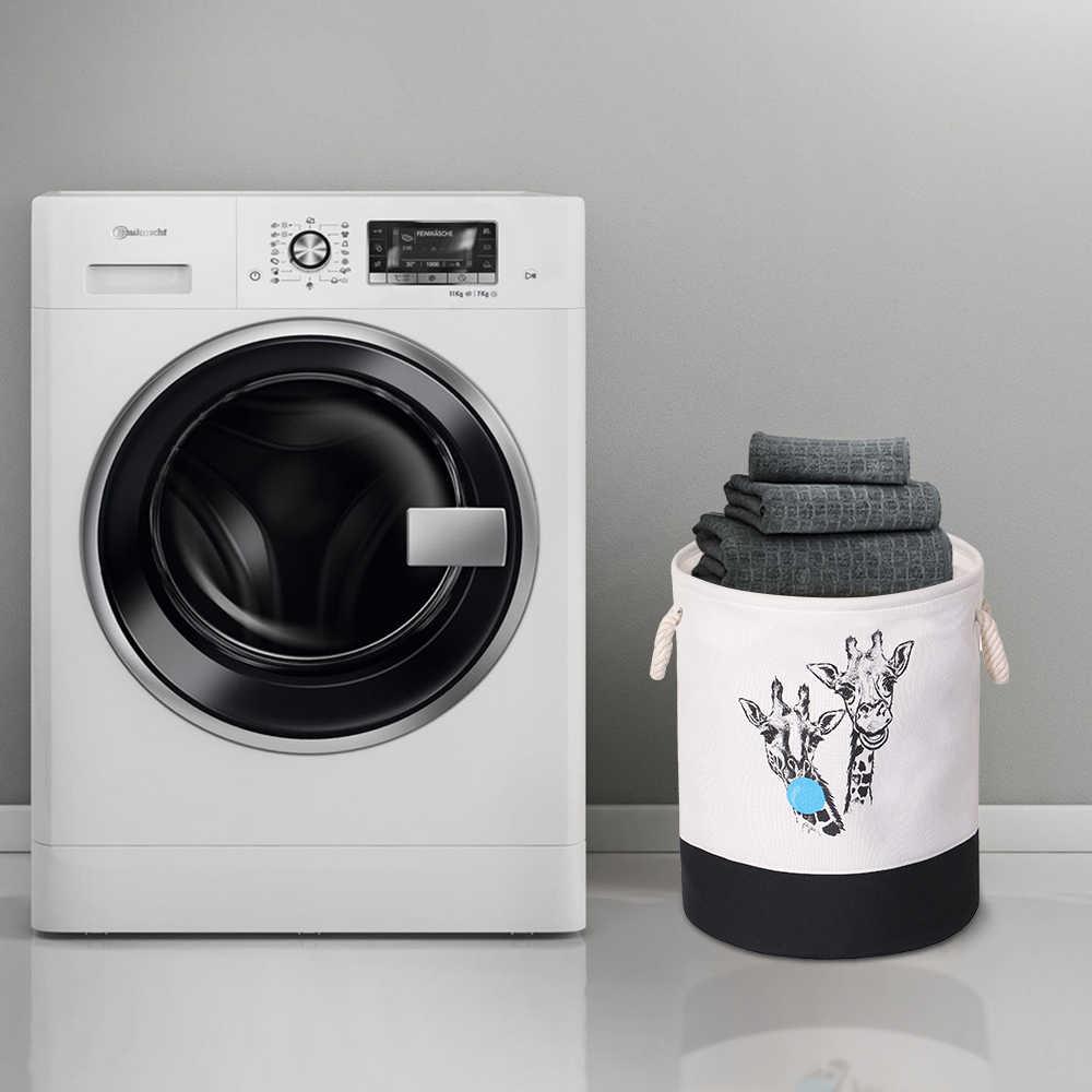 EVA בד בד עגול מתקפל סל כביסה בגדים מלוכלכים ארגונית צעצועי אחסון תיבת סל דלי סל עם ידיות 1pc