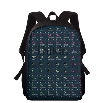 Kids Back Pack Periodic Table Of Elements Pattern Large Capacity School Bags For Boys Girls Men School Backpack Mochilas Escolar цена 2017