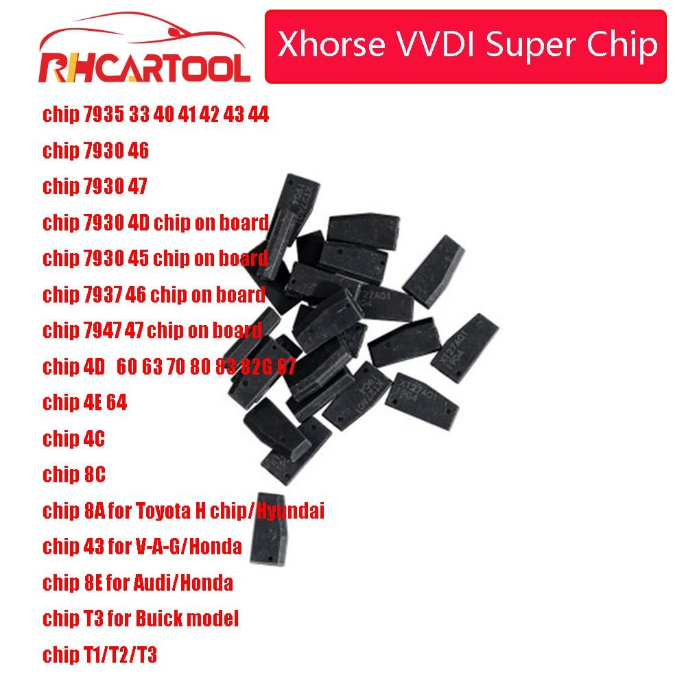 Xhorse VVDI Super Chip Transponder For ID46/40/43/4D/8C/8A/T3/47/41/42/45/ID46 For VVDI2 VVDI Key Tool /Mini Key Tool 20pcs/lot