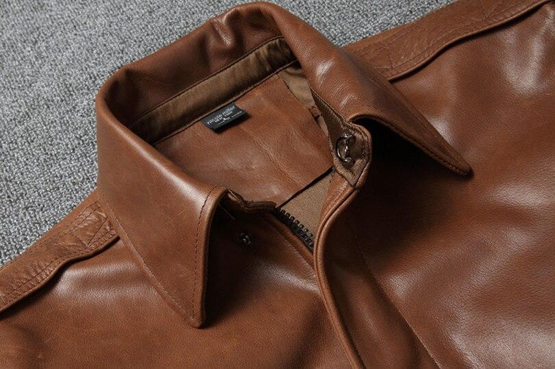 H97deed344e0d45259658122213206cfa7 Free shipping.Warm Mens classic genuine leather Jacket,quality men's vintage flight jackets.Eur Plus size Casual A2 coat.sales