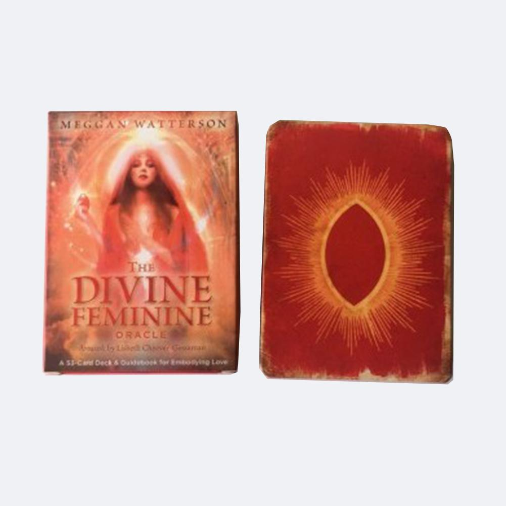 53pcs The Divine Feminine Oracle Tarot Cards Deck Board Game For Party Playing Cards Table Games Entertainment