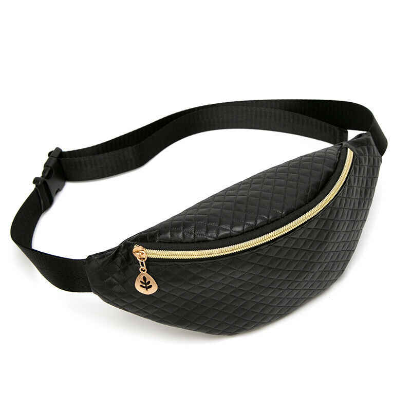 Oferta moda tendencia mujeres hombres Unisex purpurina bolsa viaje cintura riñonera Festival dinero cinturón bolsa pecho cadera bolso