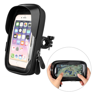Image 2 - 6.4 inch Waterproof Bicycle Phone Holder Stand Motorcycle Handlebar Mount Bag Cases Universal Bike Scooter Cell Phone Bracket