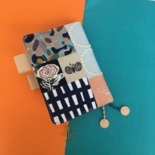 Japanese Floral Fashion Fitted Journal Cover Joint Cloth Design A5 A6 DIY Gift 1 Piece