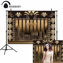 Allenjoy el gran Gatsby telón de fondo rugiente 20s boda cumpleaños baile Vintage adultos fondo para estudio fotográfico photocall