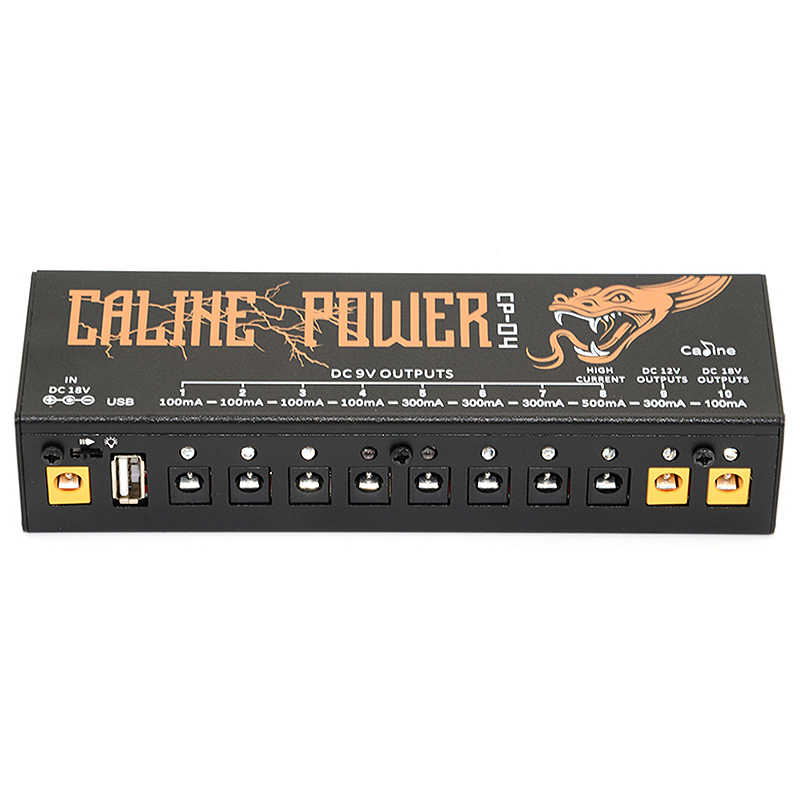 Caline Cp-04 الغيتار دواسة امدادات الطاقة 10 الناتج معزولة الطاقة موالف ماس كهربائى/التيار الزائد حماية الغيتار تأثير الطاقة