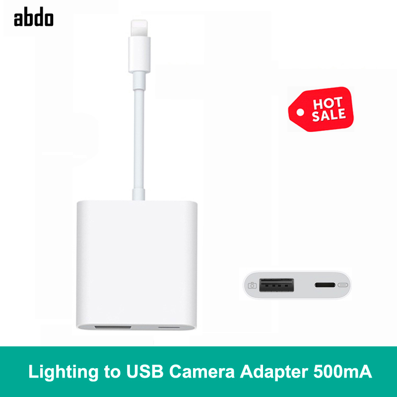 500mA High-Power Lightning To USB Digital Camera OTG Date Connector Cable Adapter For IPad Mini 2/3/4 Air IPhone XR X XS Max 8/7