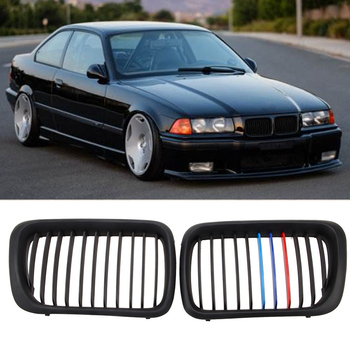 Brand New High Quality Front Matte Black M Style Kidney Grille Grill For BMW E36 M3 3 Series 97-99 New Racing Grills Car Parts image
