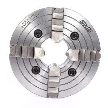 K72-80/K72-100/K72-125 4 mandril de torno de mandíbula 80mm/100mm /125mm independiente 1 pieza llave de seguridad 3 piezas perno de montaje