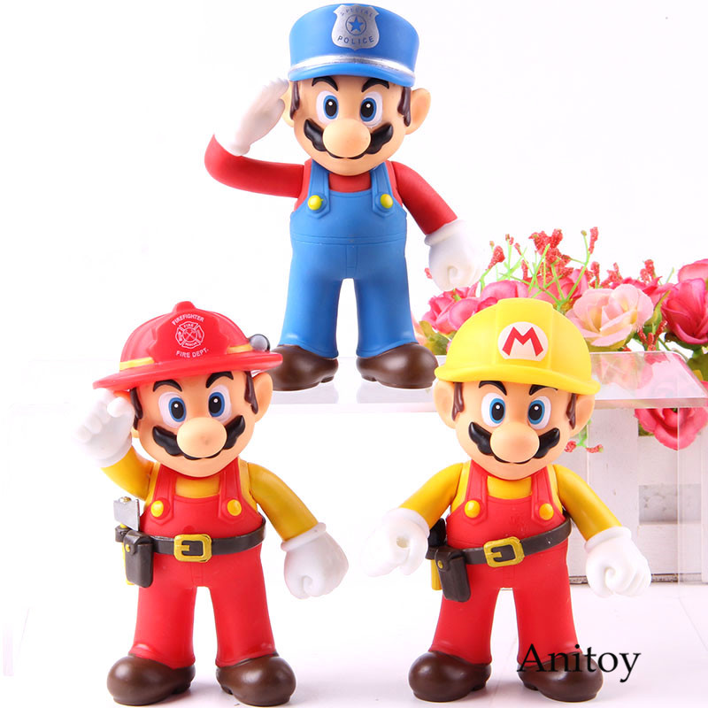 Mario Bros  Size The Worker Mario Action Figure PVC Collection Model Toy Doll For Gift