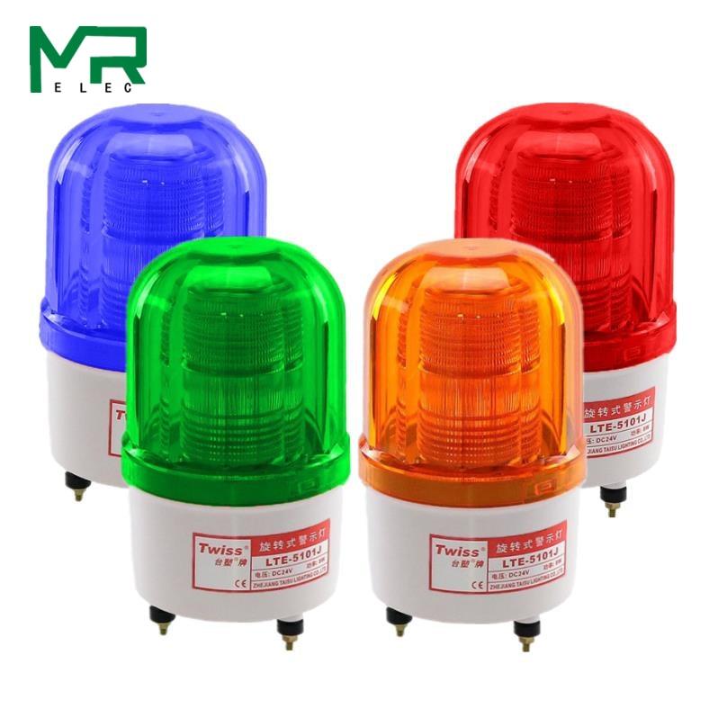LTE-5101 Flashing LED Flash Alarm Light Siren Led Warning Light Silent 12V 24V 110V 220V