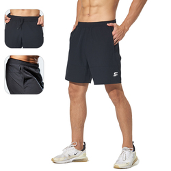 2 In 1 Shorts Men Running Shorts Quick Dry Workout Jogging Gym Fitness Sport Short Athletic Mens Sweatpants with Zipper Pockets