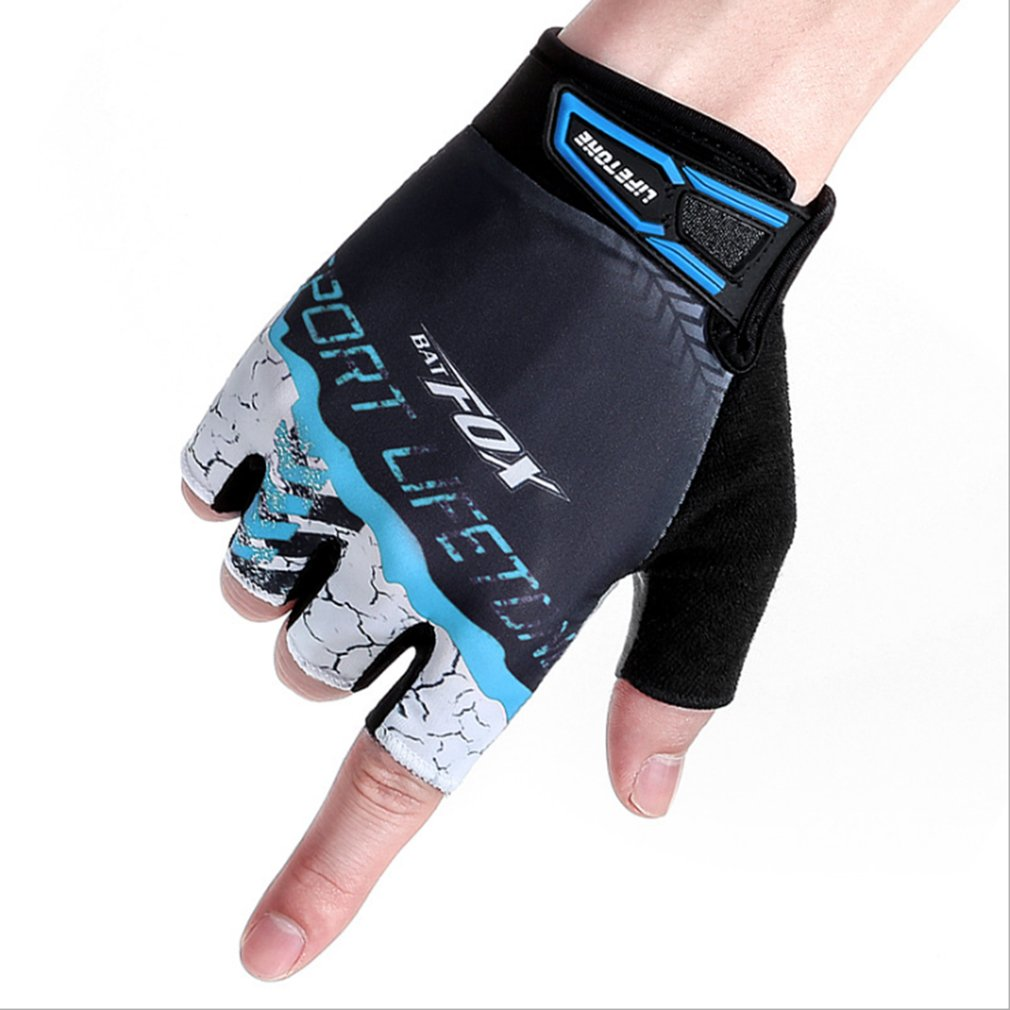 New BATFOX Cycling Half Short Finger Gloves Breathable Outdoor Bicycle Gloves Men Women Bike Mitts Durable Cycling Equipment