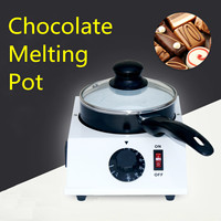 40W Mini Electric Chocolate Cheese Melting Machine Ceramic Non Stick Pot Tempering Cylinder Melter Pan With Single Pan Ceramic