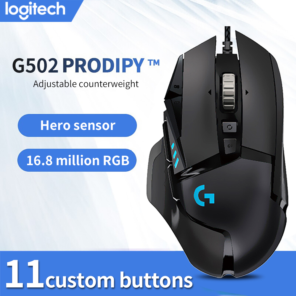 Logitech  G502 Hero master gaming computer ergonomic mouse Full line upgrade Hero engine 16000DPI RGB glare|Mice|   - AliExpress