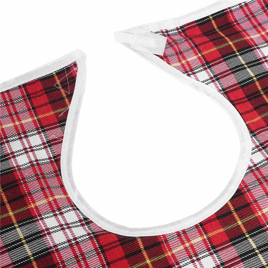 3Colors Mealtime Adult Bib Waterproof Adult Elder Mealtime Bib Washable Dinning Aid Clothes Protector Adjustable