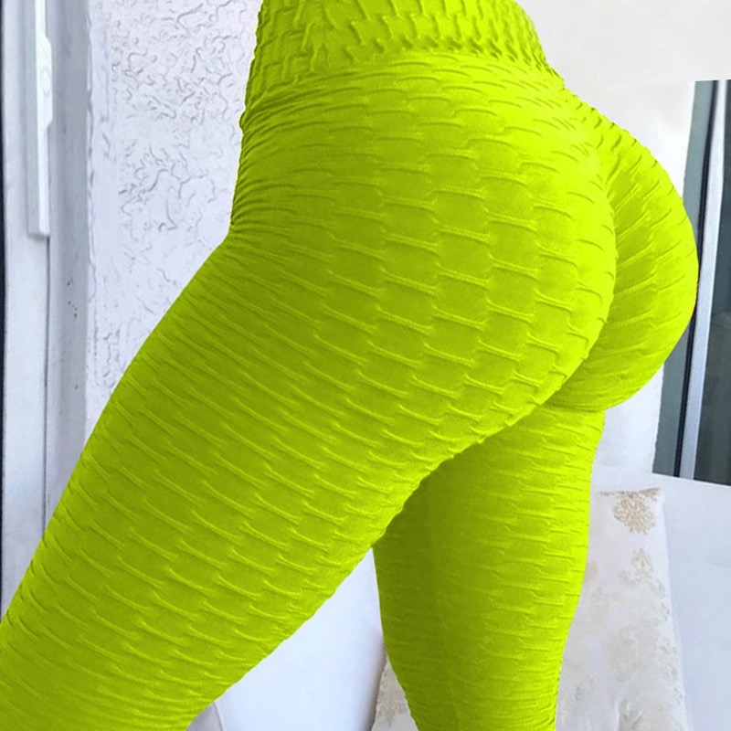 Solid High Waist Fitness Leggings Women Sportswear Leggins Mujer Elastic Workout Push Up Jeggings Feminina