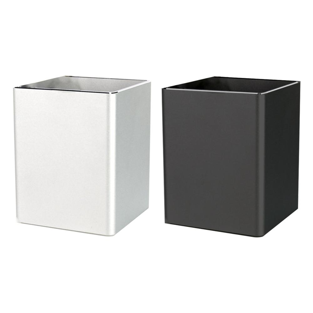 Metal Square Desk Pen Pencil Organizer Cup Storage Holder Aluminum Containers