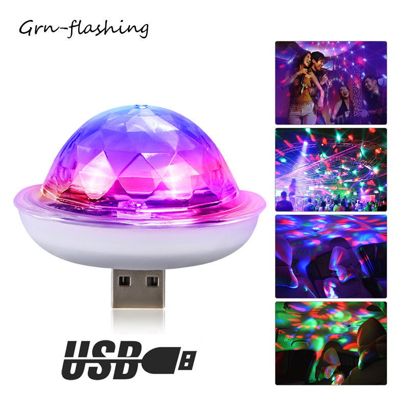 4W Mini USB LED Stage Light RGB DJ Disco Strobe Light Portable Magic Crystal Ball Party Lights For Home Christmas Decoration